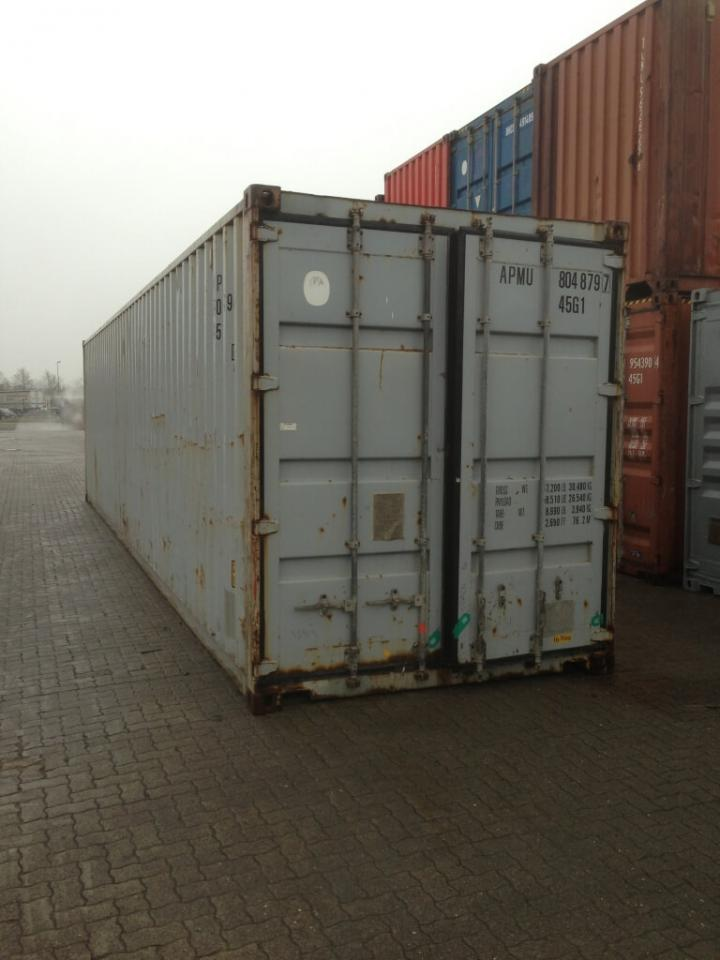 40 fuss high cube see lagercontainer gebraucht. Black Bedroom Furniture Sets. Home Design Ideas