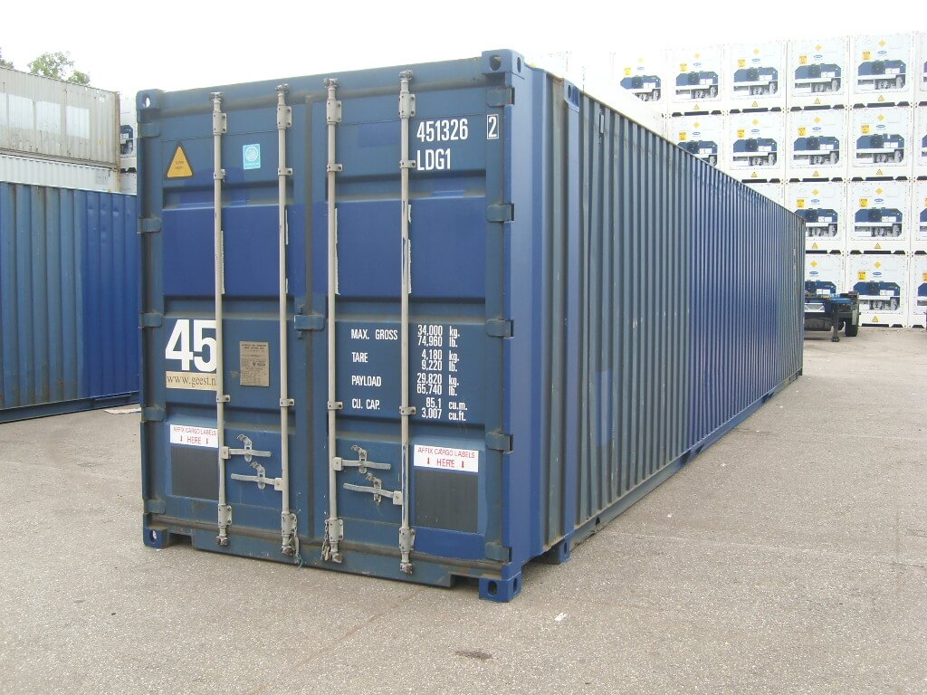 45 fuss high cube see lagercontainer gebraucht. Black Bedroom Furniture Sets. Home Design Ideas