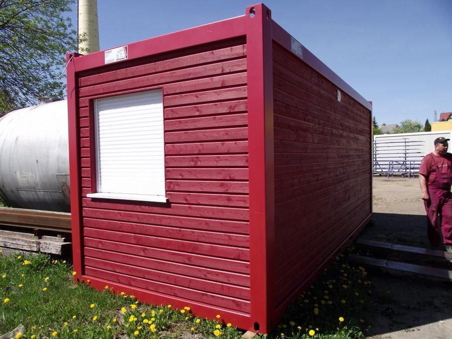 b rocontainer mit holzverkleidung. Black Bedroom Furniture Sets. Home Design Ideas