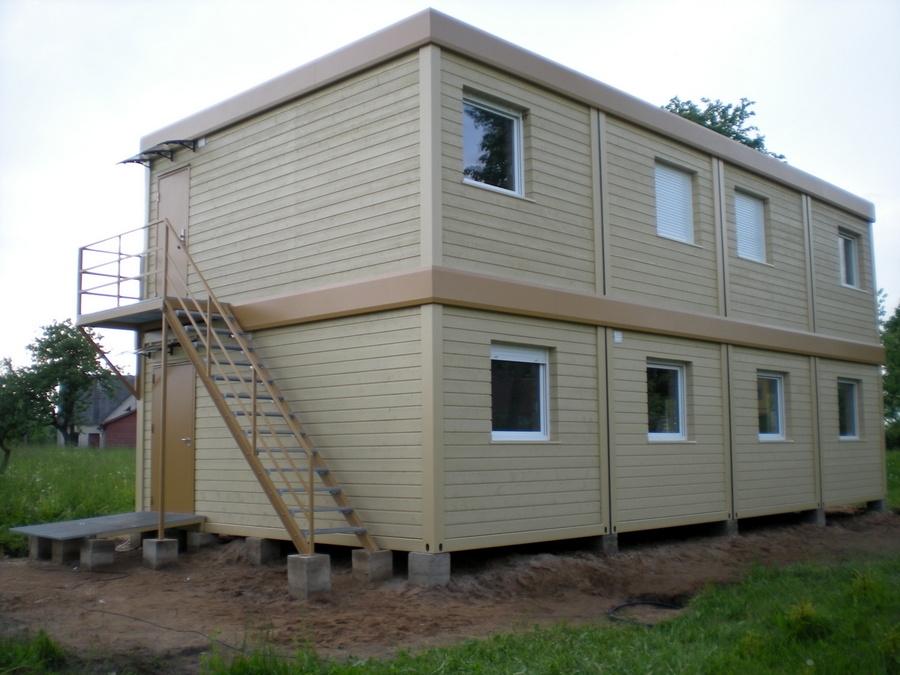 Bevorzugt Bürocontainer mit Holzverkleidung AZ02